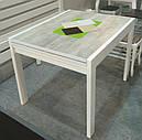 Стол обеденный Слайдер Белый/УРБАН ЛАЙТ, 81,5(+81,5)*67см, фото 3