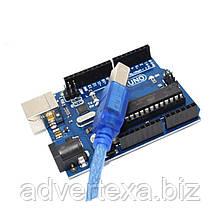 Arduino Uno R3 ATmega328P U + ATmega16U2 + USB кабель