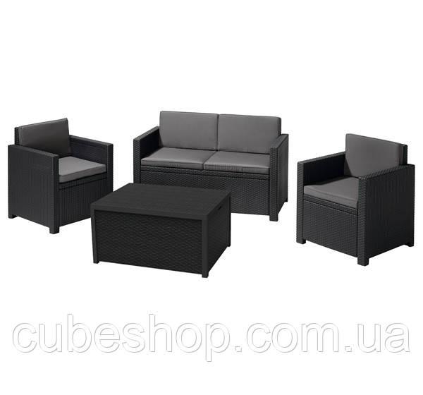 Комплект садовой мебели из искусственного ротанга Monaco Set (серый)