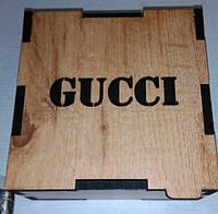 Деревянный коробок Гучи, деревянные коробки под ремни, брендовые коробки, подарочные коробки из дерева