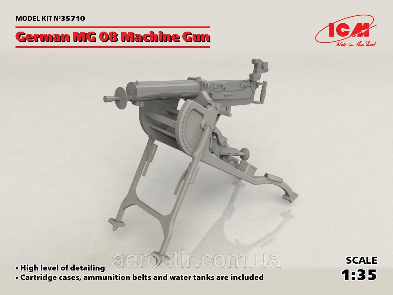 Немецкий пулемет MG08 1/35 ICM 35710