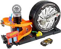 Надежный автомагазин Hot Wheels City Super Spin Tire Shop Playset Оригинальный дизайн Розница Код: КДН5303