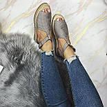 😜 Женские серые босоножки на низком ходу, фото 4