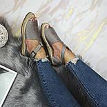 😜 Женские серые босоножки на низком ходу, фото 6