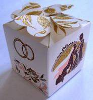 231  Бонбоньерка свадебная 5х5х5 см