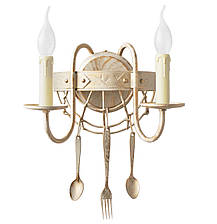 "Люстра    ""Bon appetit ""  бежевая с золотом 5 ламп со свечой, фото 2"