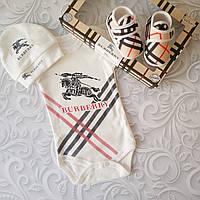 Набор для новорожденного Burberry,3 предмета, фото 1