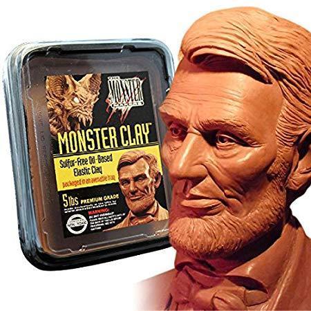 Monster Clay профессиональный легкоплавкая масса для лепки, пробник, 400 г. Жесткость -средняя (пр-во США)