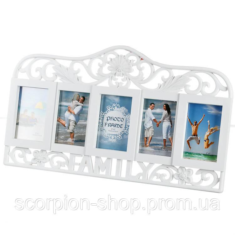 "Фотоколлаж ""Family"" (54x48x2 см) на 5 фото (211I)"