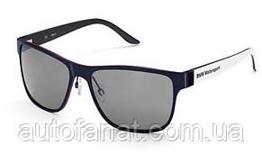 Оригинальные солнцезащитные очки BMW Motorsport Sunglasses, Unisex, White/Team Blue (80252446458)
