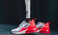"Кроссовки Nike Air Max 270 White Ultramarine ""Solar Red"", фото 1"