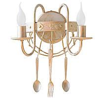 """Торшер кованый   """"Bon appetit """" старая бронза на 3 лампы, фото 3"""