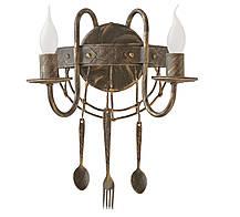 """Торшер кованый   """"Bon appetit """" старая бронза на 3 лампы, фото 2"""