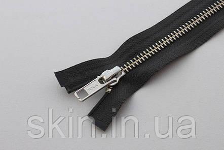 Молния металлическая YКК № 5, длинна - 60 см., тесьма - темно серая, цвет зубьев - никель, артикул СК 5256, фото 2