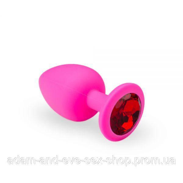 Анальная пробка, Pink Silicone Ruby, L