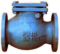 Клапан обратный поворотный 19ч16бр Ду100 Ру10