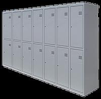 Шкаф для одежды разборной на четырнадцать человек (1800х2100х500)