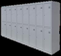 Шкаф для одежды разборной на шестнадцать человек (1800х2400х500)