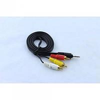 3.5 мм Мини Джек 4 pin - 3 RCA Аудио Видео кабель