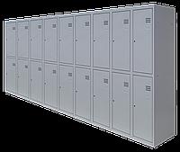 Шкаф для одежды разборной на восемнадцать человек (1800х2700х500)