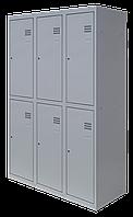 Шкаф для одежды разборной на шесть человек (1800х1200х500)
