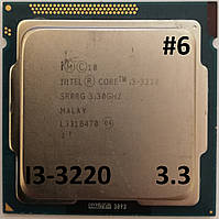Процессор ЛОТ#6 Intel Core i3-3220 SRORG 3.3GHz 3M Cache Socket 1155 Б/У, фото 1