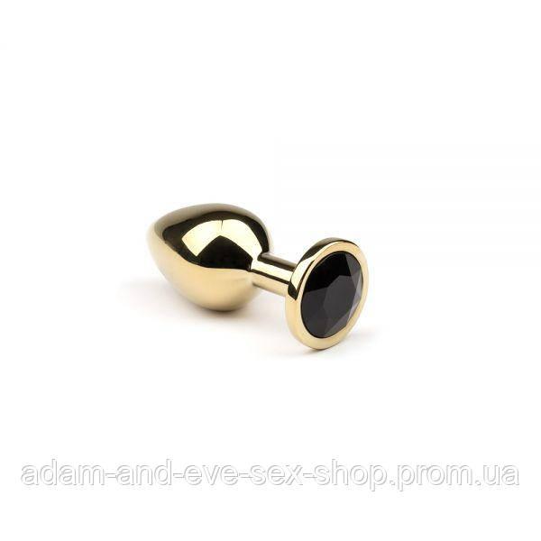 Анальная пробка,Gold Black Diamond,S