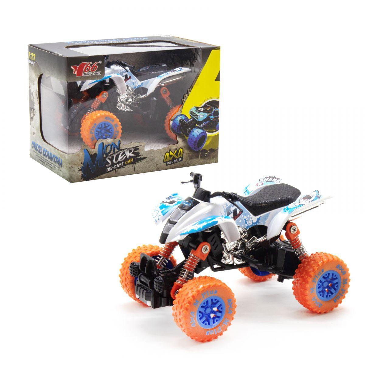 Квадроцикл инерционный  Monster (белый)