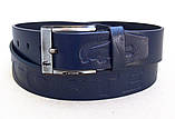 Мужской синий кожаный ремень Lacoste, фото 2