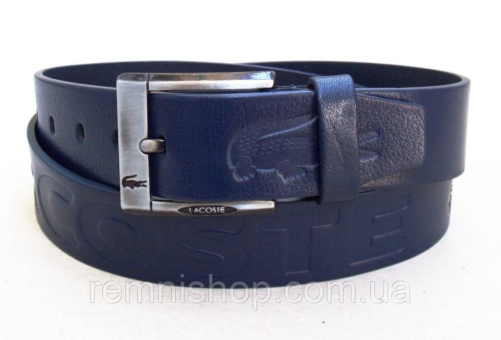 Мужской синий кожаный ремень Lacoste  продажа, цена в Днепре. от ... f071e915106
