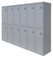 Шкаф для одежды разборной на двенадцать человек (1800х2400х500)