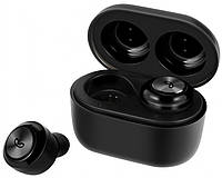 Беспроводные вакуумные наушники Aspor Air Twins A6 TWS Bluetooth-гарнитура с боксом для зарядки Black