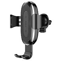 Холдер Baseus Wireless Fast Charger Gravity Car Mount (WXYL-01) Black