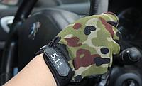 Тактические перчатки 5.11 беспальцевые (вело, мото)