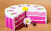 """Коробочка """"Бонбоньерка-Кусочек торта"""" М0012-о3, фото 1"""