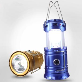 Фонарик G5800+solar кемпинговый