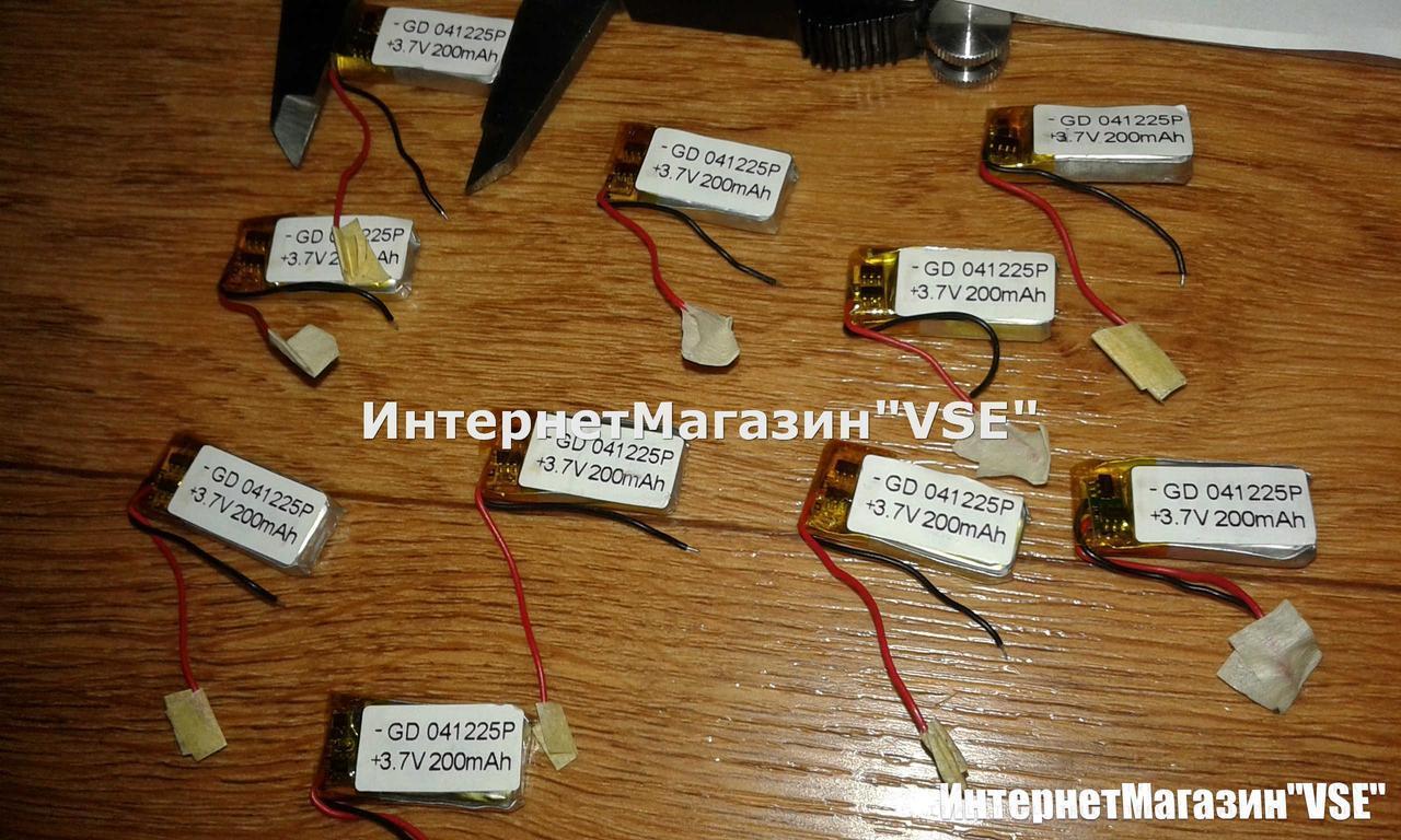 Аккумулятор для блютуз гарнитур размер 26.14* 12.55* 4.96 мм 200 mAh