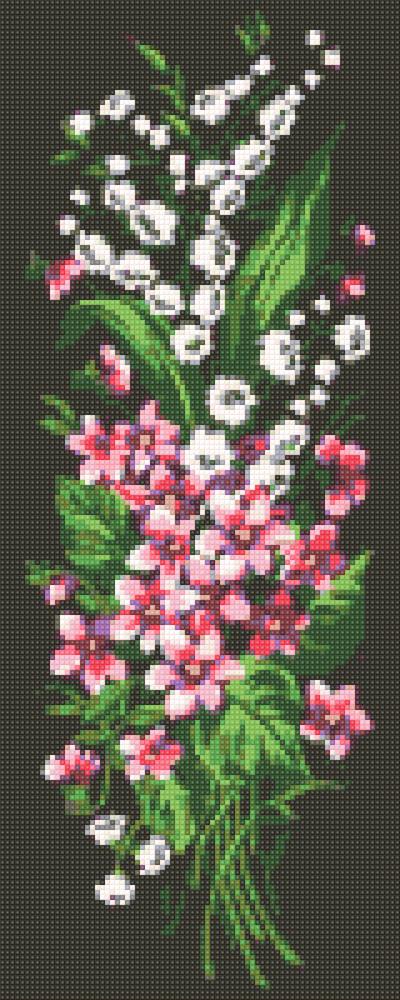 Алмазная живопись Лесные цветы DM-324 (20 х 50 см) ТМ Алмазная мозаика