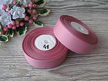 Репс однотонний на метраж. Колір Попелясто-Рожевий. Ширина 2.5 см бобіна - 18 м