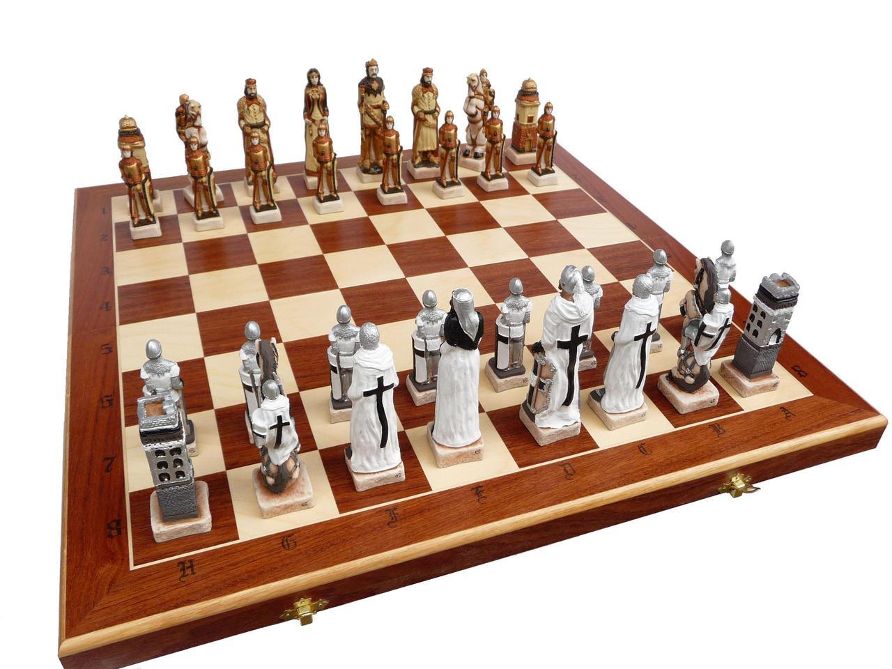 Шахматы Madon Grunwald интарсия 58.5х58.5 см (с-160)