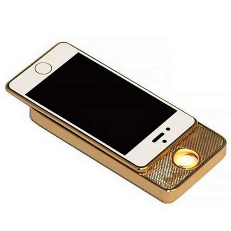 Электронная USB-зажигалка Золотой (100001LM), фото 2