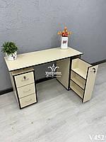 Двухтумбовый маникюрный стол с ящиком карго,  Модель V452