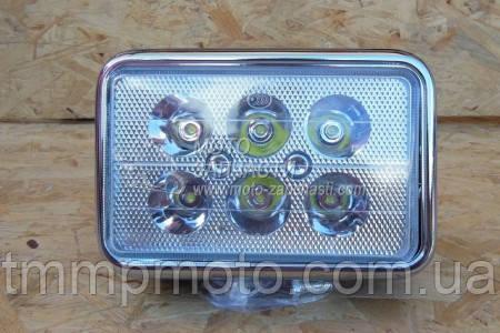 Фара квадратная LED ( 6 светодиодов )  18W  испепеляющий свет !!!, фото 2