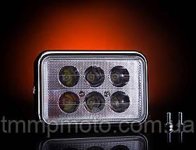 Фара квадратная LED ( 6 светодиодов )  18W  испепеляющий свет !!!, фото 3