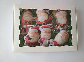 Набір ялинкових іграшок Санта Клауси 6 шт. (SUN2420), фото 2