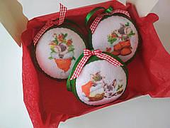Набір ялинкових іграшок Кулі з поросятами 3 шт. (SUN2423)