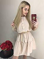 Платье женское k лёгкое беж, белое