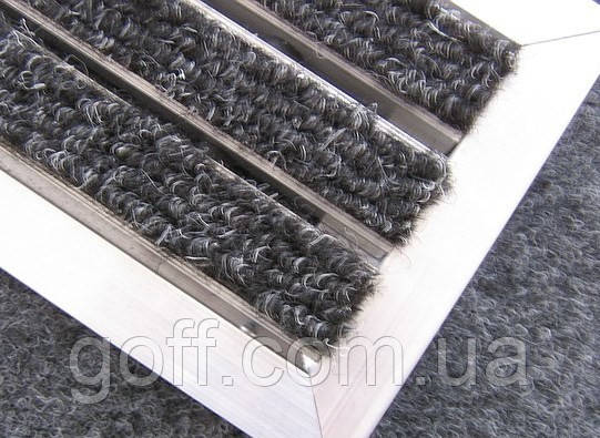 Грязезащитная алюминиевая решетка  «Лен» наполнение (текст