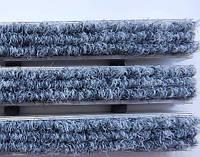 Алюминиевые решетки «Лен» наполнение цветной текстиль