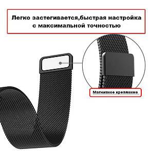 Ремешок BeWatch миланская петля для Xiaomi Amazfit BIP Черный (1010201), фото 2